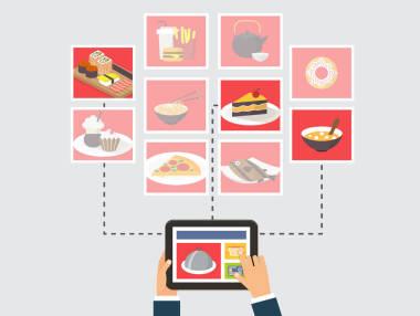 Еда online и offline